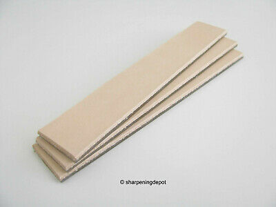 Edge Pro Leather Strops Mounted On Glass With Adhesive Backing X3