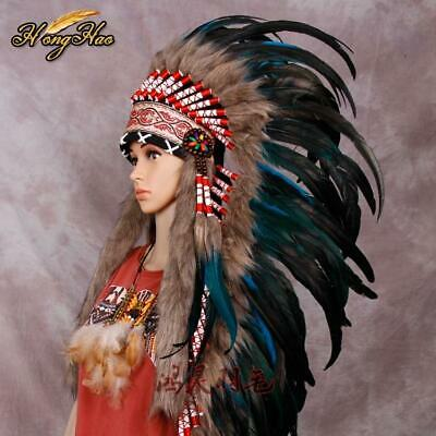 Indian Headdress feather headdress indian war bonnet indian feather costume f...