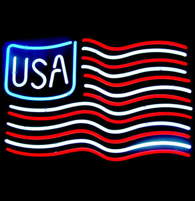 "New American Flag Neon Sign 17""x14"" Ship From USA"