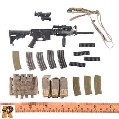Y20-28 1//6 scale ES26021T tandem HALO jumper pack  M4A1 Assault rifle