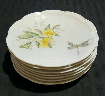 2 Lenox Butterfly Meadow Party Plates