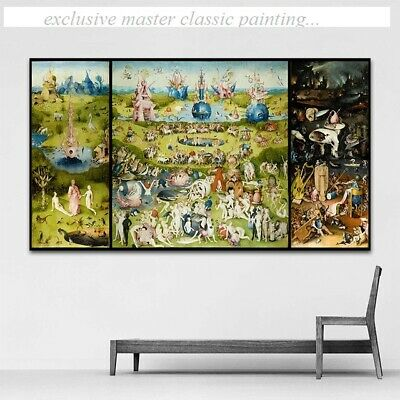Oversized Canvas Print - Hieronymus Bosch The Garden of Earthly Delight And Hell