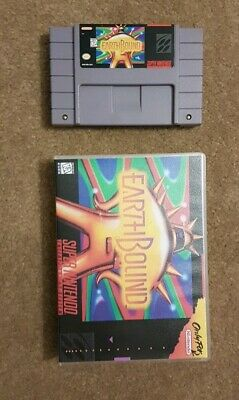 EarthBound Super Nintendo SNES Authentic cart and custom case Mother 2