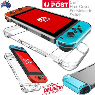 For Nintendo Switch Transparent Clear Shockproof Protective Hard Case Cover AU
