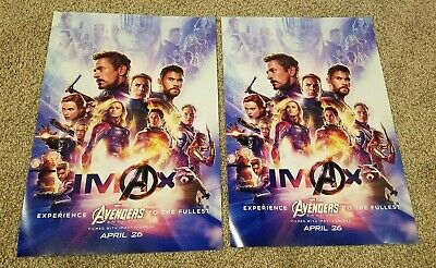 """2 Avengers Endgame IMAX Premiere Night 13""""x19"""" posters"""