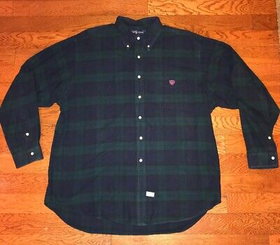 7796cd0f Vintage Polo Ralph Lauren Plaid Logo Spellout Crest Button Shirt size ADULT  XL