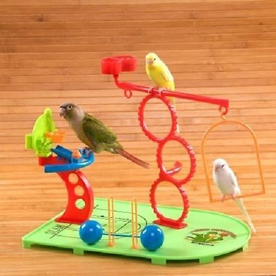 Parrot Bird Play Stand for Natures Instinct Small Parrots Birdie Basketball Gym