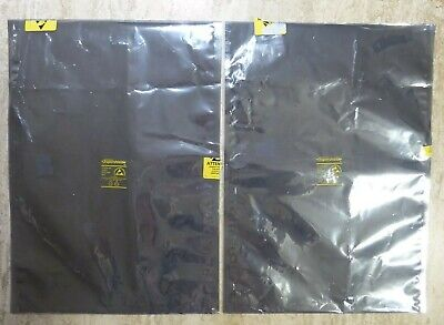 "75 Extra Large Silver ESD Bags 18""x12 3/4"" Bags Anti-Static Shielding Bags Used"