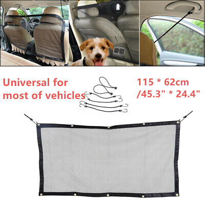 Durable Pet Safety Net Car SUV Universal Van Seat Mesh Dog Barrier Travel Black