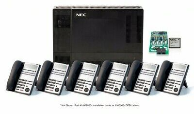NEC SL1100 Telephone System Package 4 PSTN Lines and 6x IP4WW-12TXH-B Phones