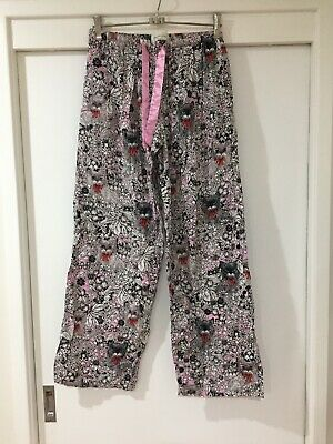 Peter Alexander Ladies Pyjama Pants Size S Cat And Floral Pattern Good Condition