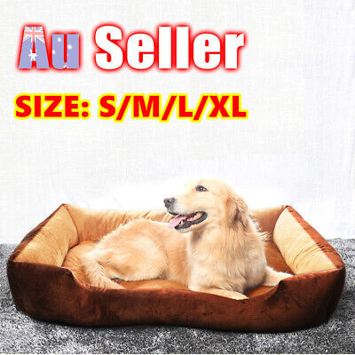Dog Cat Pad Mat Soft Pet Bed Mattress Cushion Pillow Warm Extra Large M L