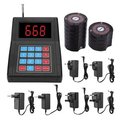 Restaurant Guest Call Wireless Paging Queuing Calling System 10 Coaster Pagers