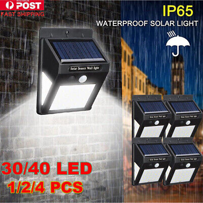 40/100LED Solar Lights PIR Motion Wall Light Home Garden Outdoor Lamp Floodlight
