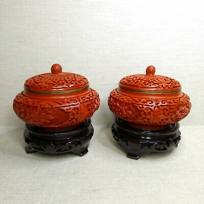 Vintage Chinese boxes Lacquer, 20th century.