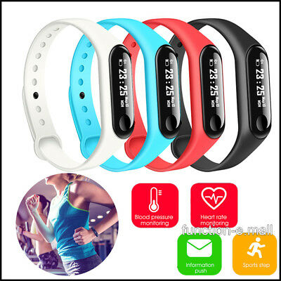 """0.78"""" M3 Touch Screen OLED Bluetooth Smart Wristband Bracelet For iPhoneXS/XR/X"""