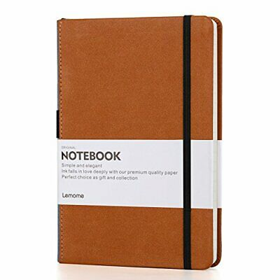 Dotted Bullet Notebook/Journal - Lemome A5 Hardcover Dot Grid Notebook with Pen