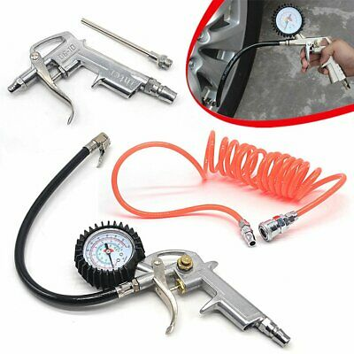 Air Line Tyre Inflator With Pressure Gauge Air Hose For Compressor Use Cars Auto