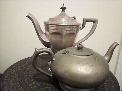 Metal coffee and teapot extremely dirty