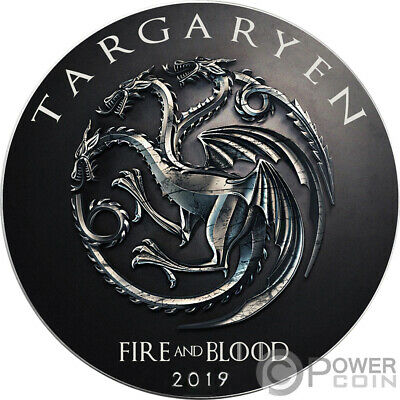 TARGARYEN Game of Thrones GOT Walking Liberty 1 Oz Silver Coin 1$ US Mint 2019