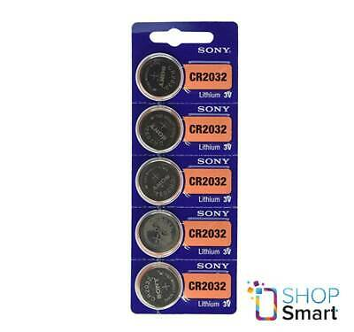 5 Sony Cr2032 Lithium Batteries 3V Coin Cell Dl2032 Exp 2028 New