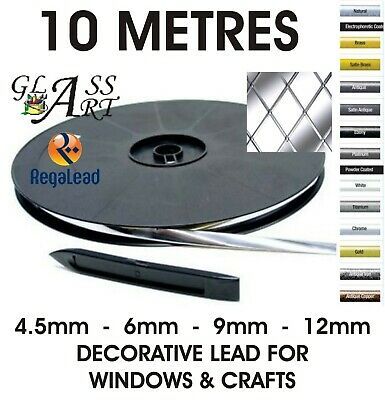 10 metres self adhesive lead strip tape for windows glass crafts REGALEAD tool