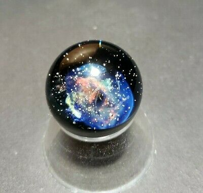 Contemporary Art Glass Marble Cosmic Space Galaxy by Sean Clayton