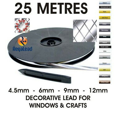 25 metres self adhesive lead strip tape for windows glass crafts REGALEAD tool