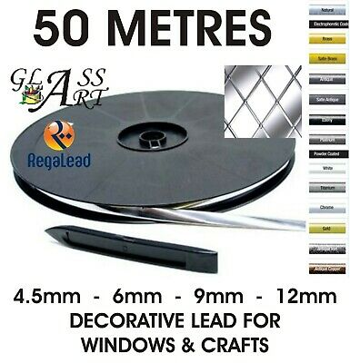 50 metres self adhesive lead strip tape for windows glass crafts REGALEAD tool