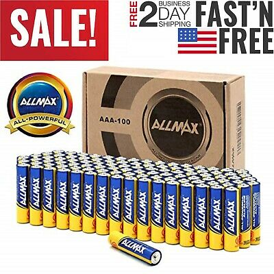 Powerful Alkaline Batteries AAA 100 Pack Ultra Long Lasting Leakproof 1.5V Cell