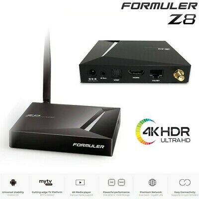 OFFICIAL RESELLER! FORMULER Z8 UHD 4K 16GB eMMC Dual Band WiFi IPTV Player