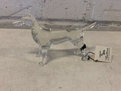 Vintage Frederic Duclos Crystal Jack Russell Terrier Dog Figurine.