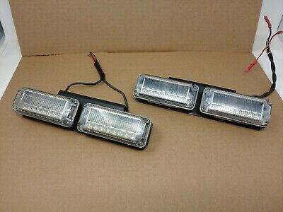 Lot of 4 Federal Signal VIPER EXT VPX800-R-B, LED IN GREAT WORKING CONDITION