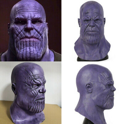 Latex Thanos Full Mask Cosplay Infinity War The Avengers Props Face Helmet Party