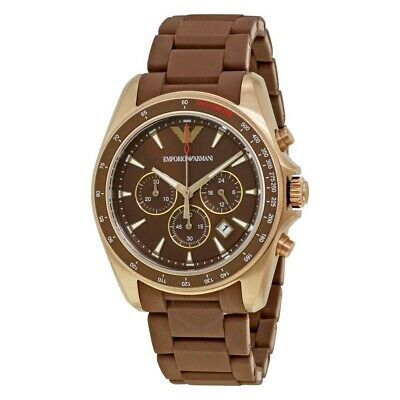 Emporio Armani Men's AR6099 Brown and Gold chronograph watch