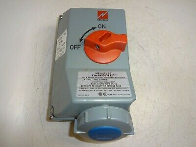 Mennekes Me 330Mi6 Pin & Sleeve Switched Interlock Receptacle