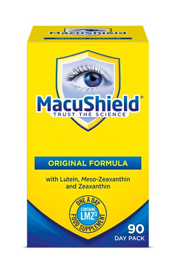Macushield Capsules - 2 options Pack of 90 or pack of 30 Eye Vitamins & Minerals