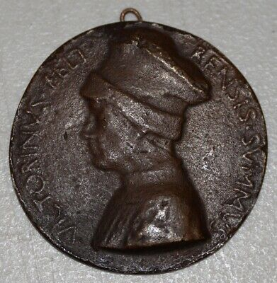 Rare 15th Century Bronze Relief Medallion of Vittorino Da Feltre C.1440s