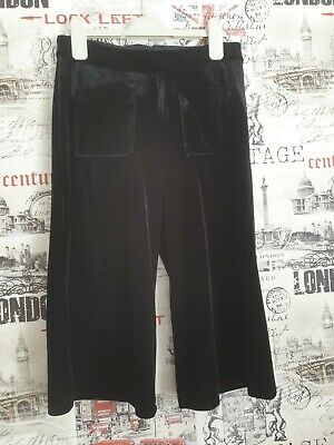 Girls Next Black Velvet Culottes Age 9 years