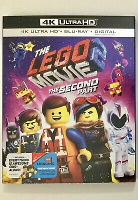 The Lego Movie 2 The Second Part 4K Blu-ray Digital + Slip Brand NEW FREE~Ship!