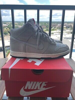 separation shoes afdb3 256b4 MEN'S NIKE DUNK High Pro SB Pee-Wee Herman Shoes Size 8 Leather Gray MF  Dooms