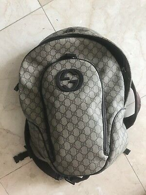 c0c15eb3830 GUCCI TECHNO CANVAS Backpack Men s 100% AUTHENTIC Guaranteed ...