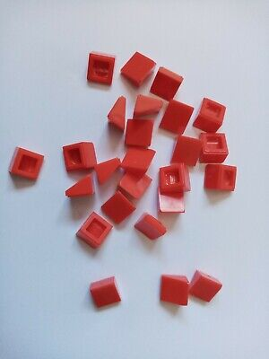 SLOPE 1x1 2//3 TRANS RED QTY x 20 BRAND NEW LEGO 54200 CHEESE WEDGE