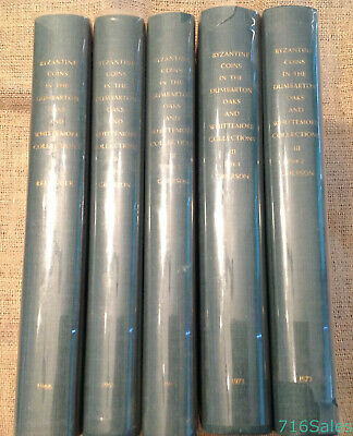 SET 5 1966-73 Catalogue Byzantine Coins Dumbarton Oaks & Whittemore Collections