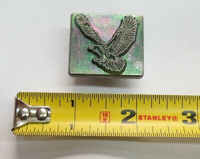 "Discontinued Vintage Midas Detailed Flying Hawk Eagle Bird 1"" Leather Stamp 8224"