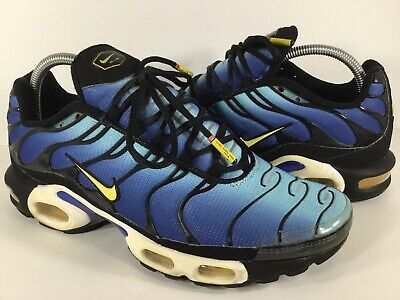 ea19f5a1c5 Nike Air Max Plus Tn Hyper Blue Yellow Black White Mens Size 9.5 Rare  604133-