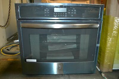 Ge Jt5000sfss 30 Single Electric Convection Oven In Black Stainless Steel