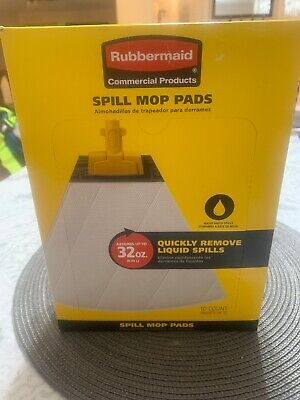 Rubbermaid Commercial Spill Mop Pads 10 Pk Replacement Mop Head (2 Boxes 20piec)
