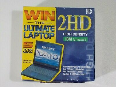 "Sony 2HD High Density IBM Formatted 3.5"" 1.44MB Micro Floppy Disk 