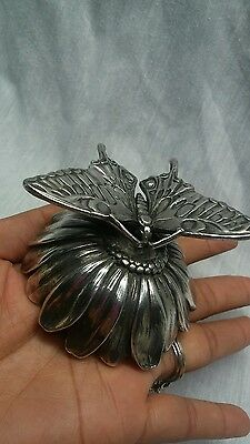 Very nice Reed and Barton silverplate butterfly music box works